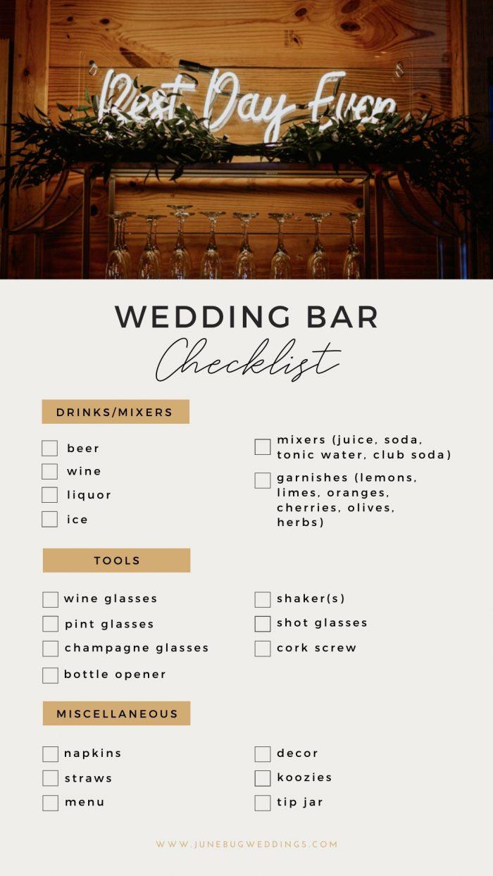 The Ultimate Guide to Your Wedding Reception Bar   Junebug Weddings