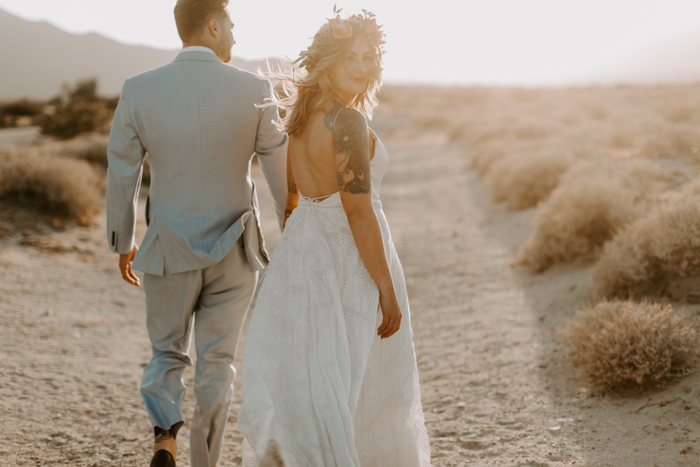 Hip Diy Desert Ace Hotel Palm Springs Wedding Junebug
