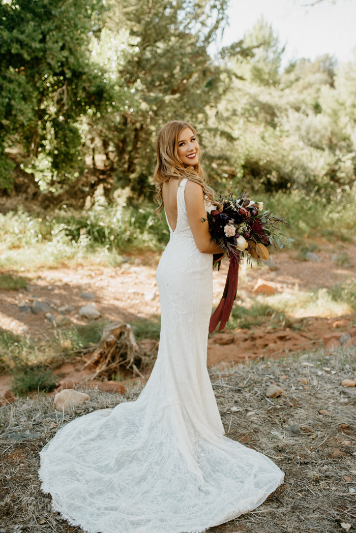 Burgundy Black And Champagne Wedding At Sedona Golf Resort