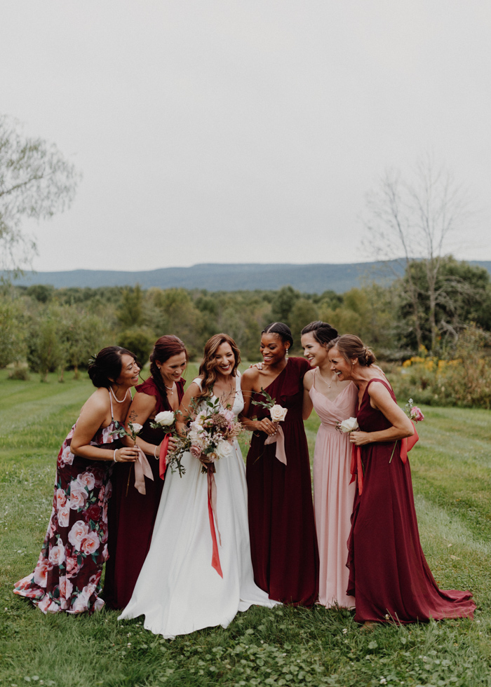 Rose Gold and Burgundy Audrey's Farmhouse Wedding in ...