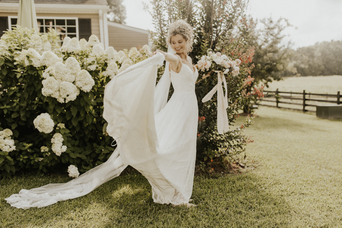 65debb6086ca With soft roses filling every corner and an airy color palette brightening  up the rustic space, Hannah and CJ's wedding at The Barn at Timber Creek  was like ...