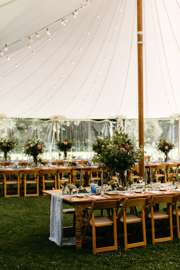 We Love The Blue Watercolor Theme Of This Diy Catskills Wedding At
