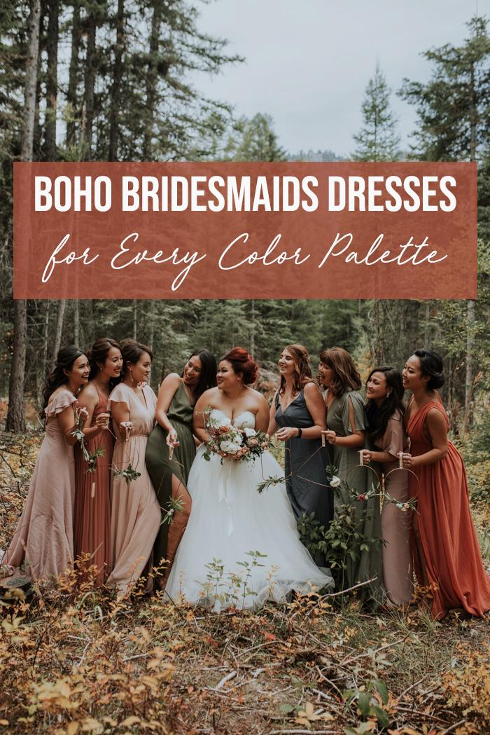 Boho Bridesmaids Dresses For Every Color Palette Junebug Weddings