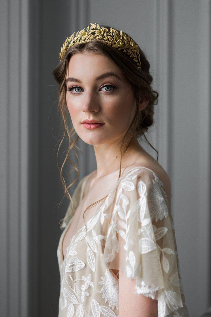 Florals Hair Combs for Brides Wedding Bridal Vintage Headband Wreath Crown