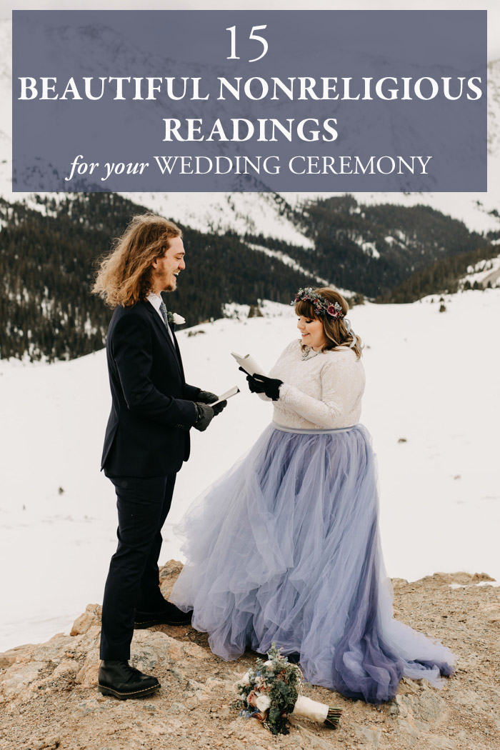 Secular Wedding Readings.15 Beautiful Nonreligious Readings For Your Wedding Ceremony