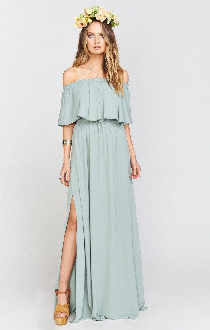 Boho Turquoise Bridesmaid Dresses