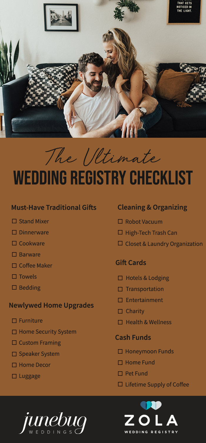 The Ultimate Wedding Registry Checklist To Help You Fill Your Newlywed Home With All The Essentials Junebug Weddings