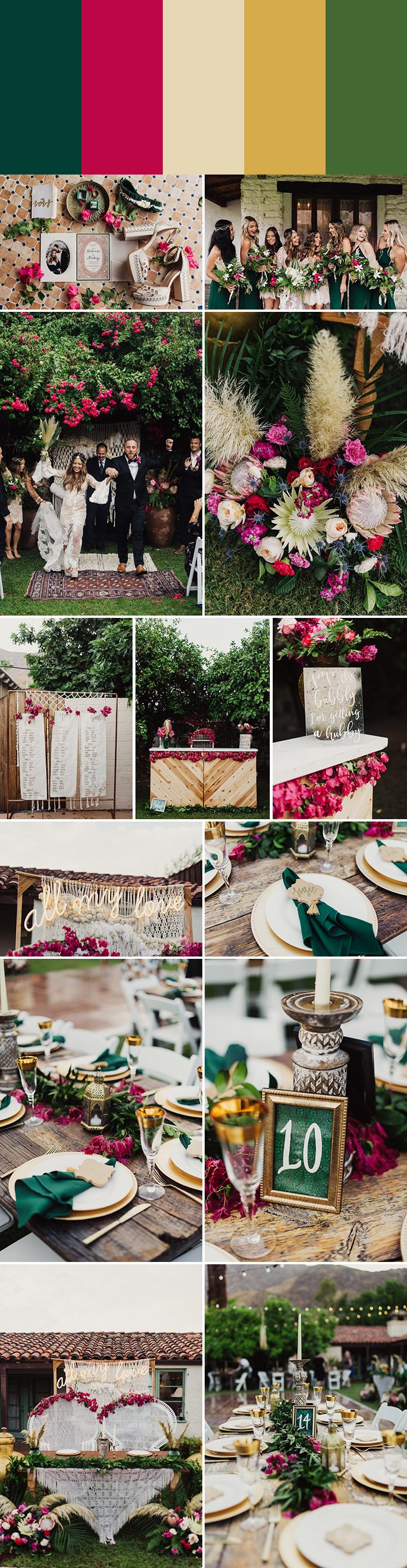 7 Striking Emerald Wedding Color Palettes Junebug Weddings