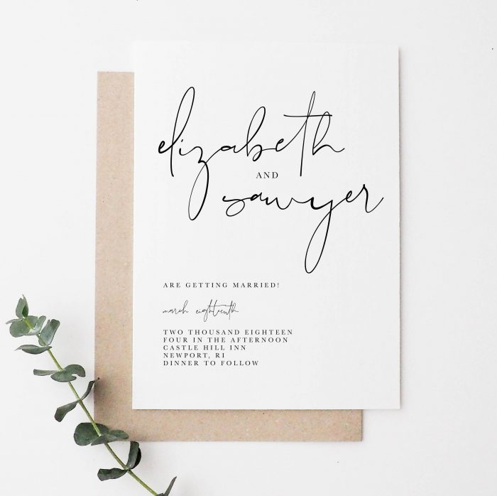 60 Stunning Simple Wedding Invitations On Etsy For The No