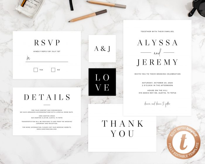 Cheap Plain Wedding Invitations: 60 Stunning Simple Wedding Invitations On Etsy For The No