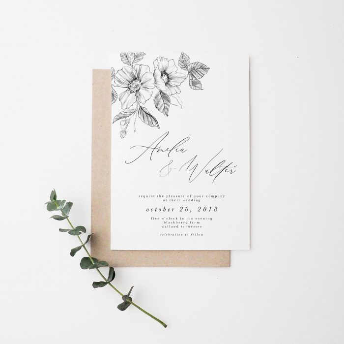 Simple Wedding Invitations: 60 Stunning Simple Wedding Invitations On Etsy For The No