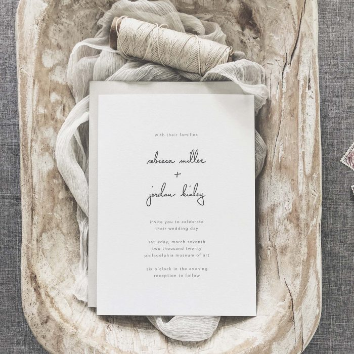 60 Stunning Simple Wedding Invitations on Etsy for the No-Frills ...