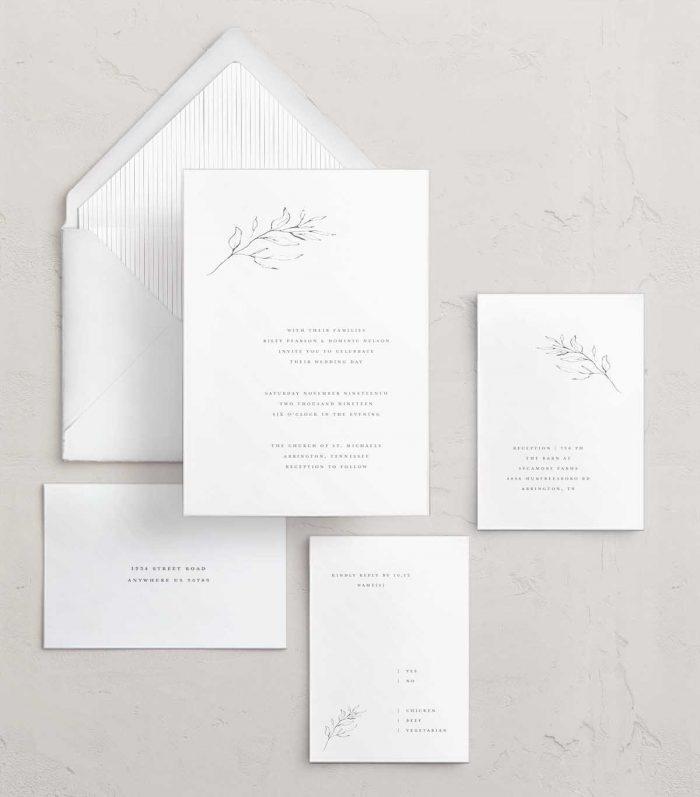 address wedding invitations -  floral wedding invitations with a modern twist