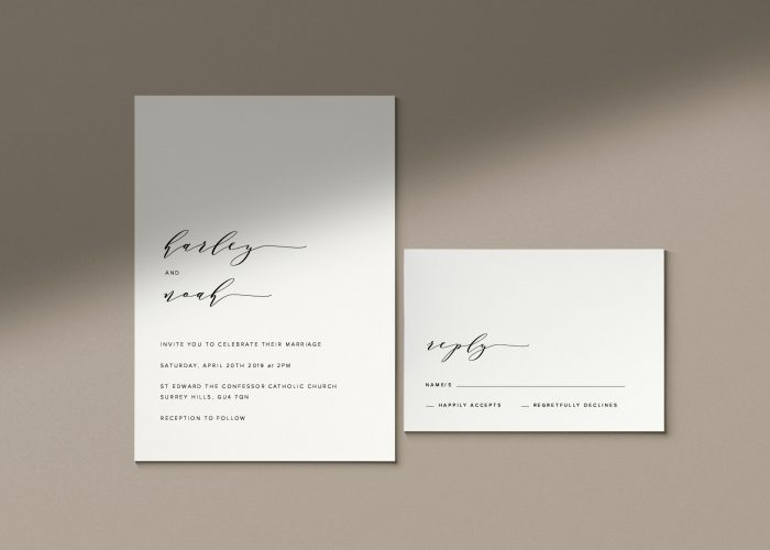 60 Stunning Simple Wedding Invitations On Etsy For The No Frills