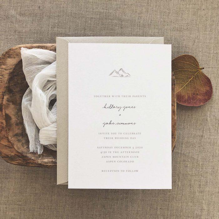 60 Stunning Simple Wedding Invitations On Etsy For The No Frills Couple Junebug Weddings