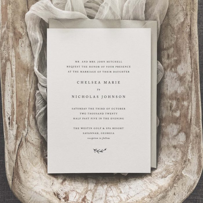 60 Stunning Simple Wedding Invitations On Etsy For The No-Frills