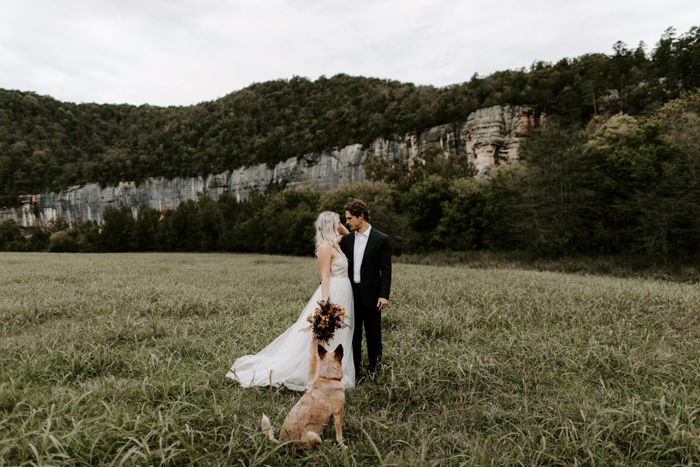 """f7e88e0ed3b Gracie and Mo s sweet elopement at the Buffalo Outdoor Center and their  story of """"the year of weddings"""" has us seriously reconsidering the idea that  your ..."""