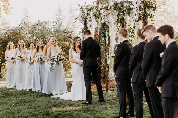 This Edgy Elegant Portland Wedding at Bingham Estate was a Champagne