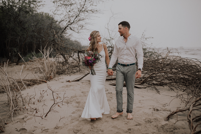 a78fc9705df1 Tamara and Dave's wedding at Pangas Beach Club was everything we love most  about beach weddings! The couple's planning and floral design team from Mil  Besos ...