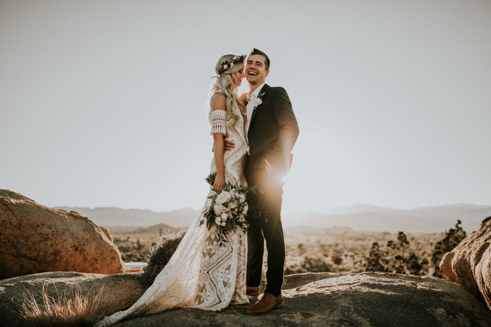 15b0e1dcb3b Lauren and Robert s desert wedding at The Ruin Venue was boho minimalism at  its absolute finest! With the help of Heartthrob Weddings and Events