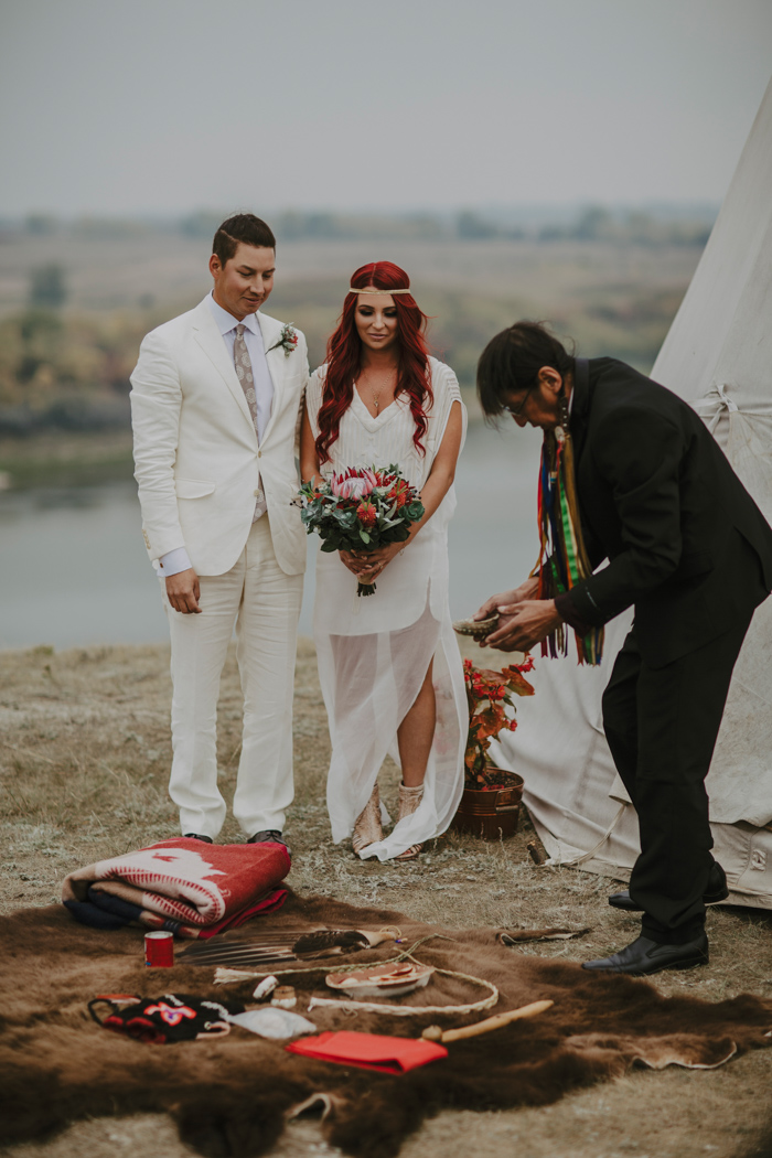 Traditional Wedding Ceremony.This Traditional Ojibwe Wedding At Wanuskewin Heritage Park