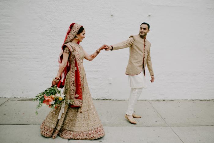 34d689228663 This Urban NYC Hindu Wedding at MyMoon was Colorful