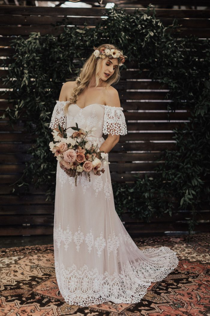 90c186f4e1b Dreamers   Lovers Carrie Off-Shoulder Wedding Dress