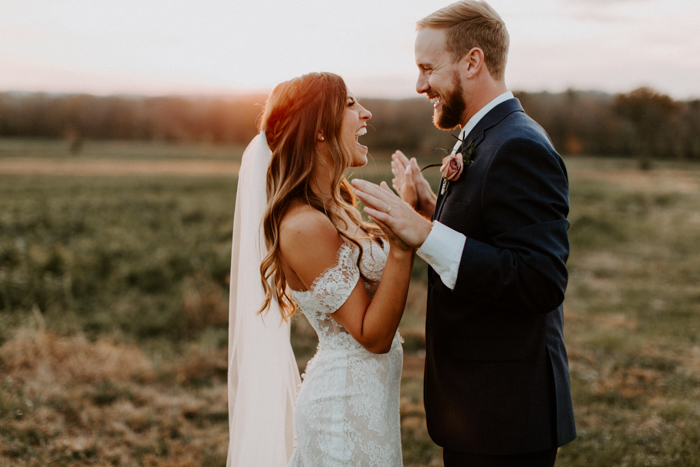 However, I definitely used those images as my inspiration for my wedding look. Nick had the guys wear navy suits and brown shoes, and I had the girls wear a ...