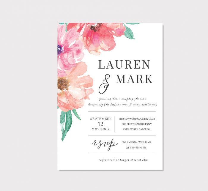 50 Etsy Wedding Shower Invitations That Are Stylish And Creative