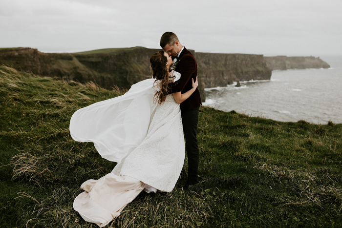 936b857a5 Breann and Ronnie s Corcomroe Abbey wedding in Ireland was one of the most  intimate celebrations we ve ever seen! Their ceremony took place in a ...