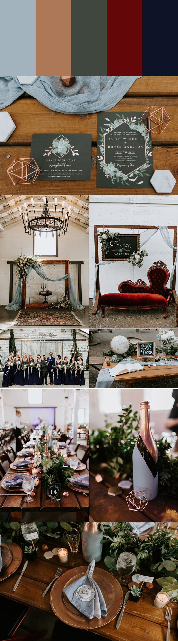 7 Dusty Blue Wedding Color Palettes Junebug Weddings