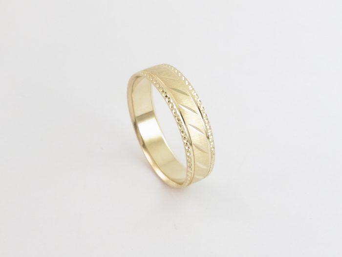 Unisex Wedding band 14kt Yellow Gold