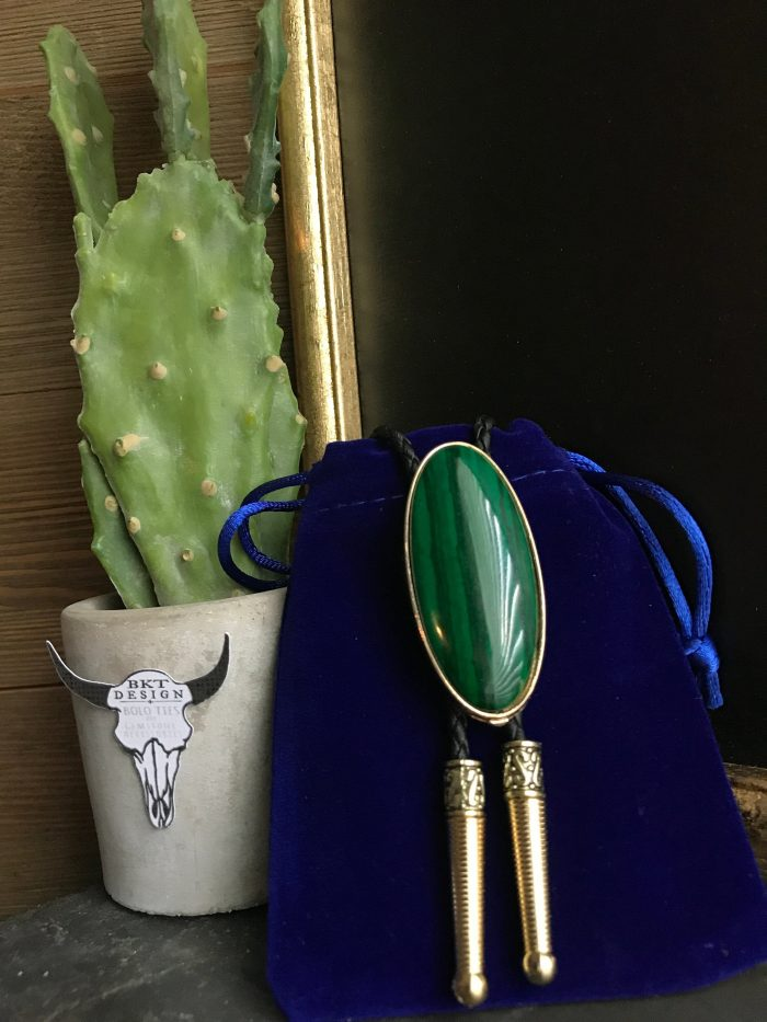 Natural Wood Green Hop Tie Clip