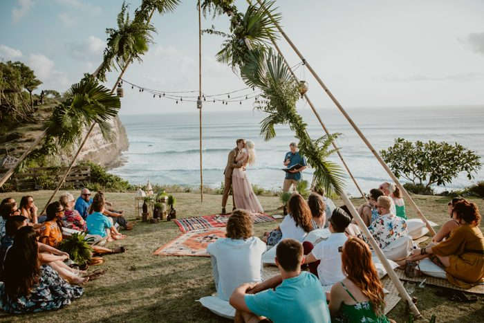 This Free Spirited Uluwatu Surf Villas Wedding In Bali Is Totally Eco Friendly Junebug Weddings