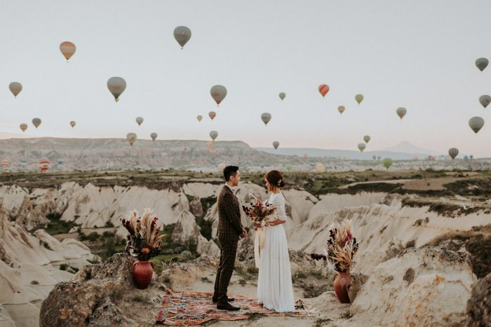 Unique Elopement Alert This Couple Exchanged Vows Among