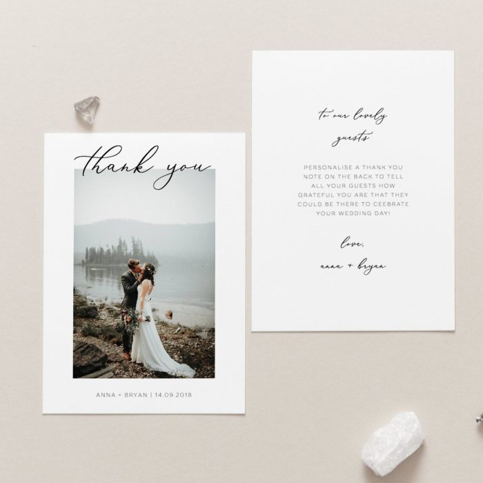 The Best Etsy Wedding Thank You Cards
