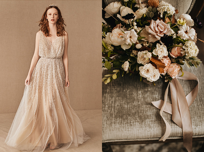 The Best Bohemian Blooms For Your Bhldn Gown Junebug Weddings