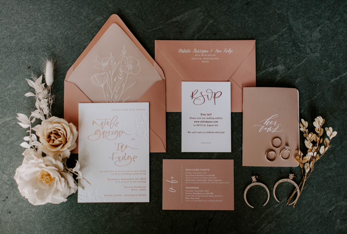 address wedding invitations - piece of stationery that reflects the cherished romance of a wedding day