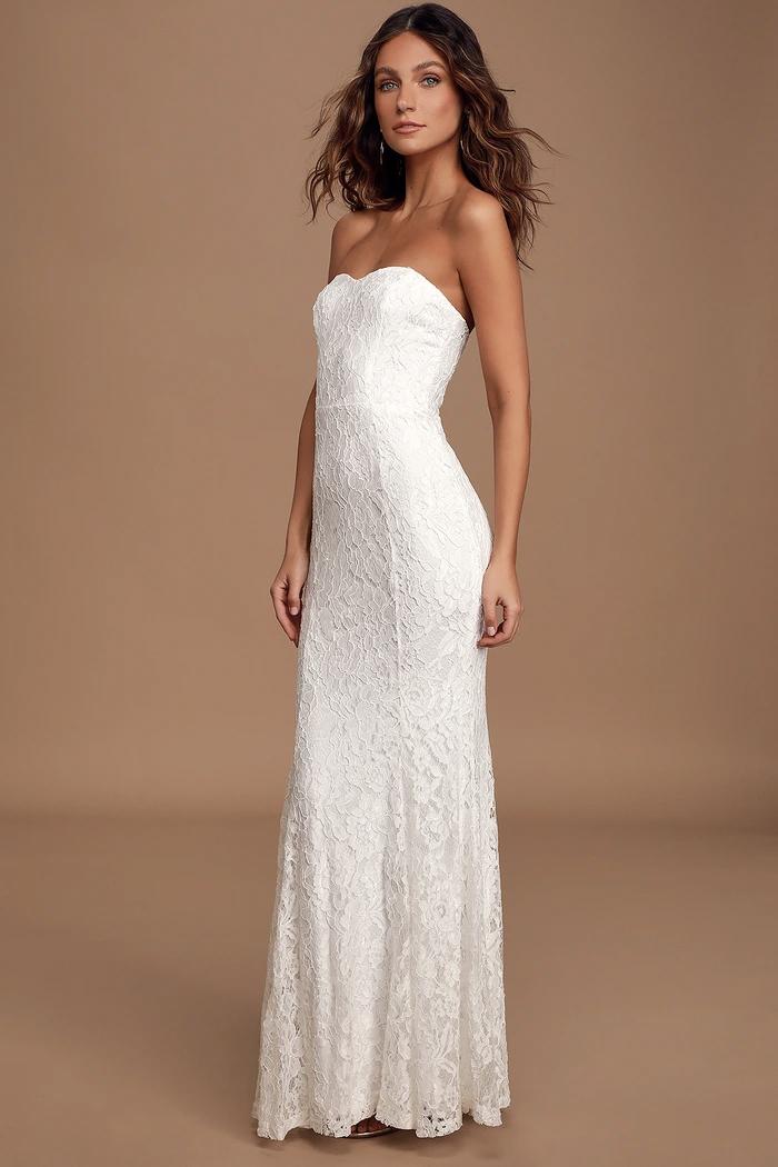 30 Simple And Special Courthouse Wedding Dresses Junebug Weddings,Ribbon Corset Back Wedding Dress