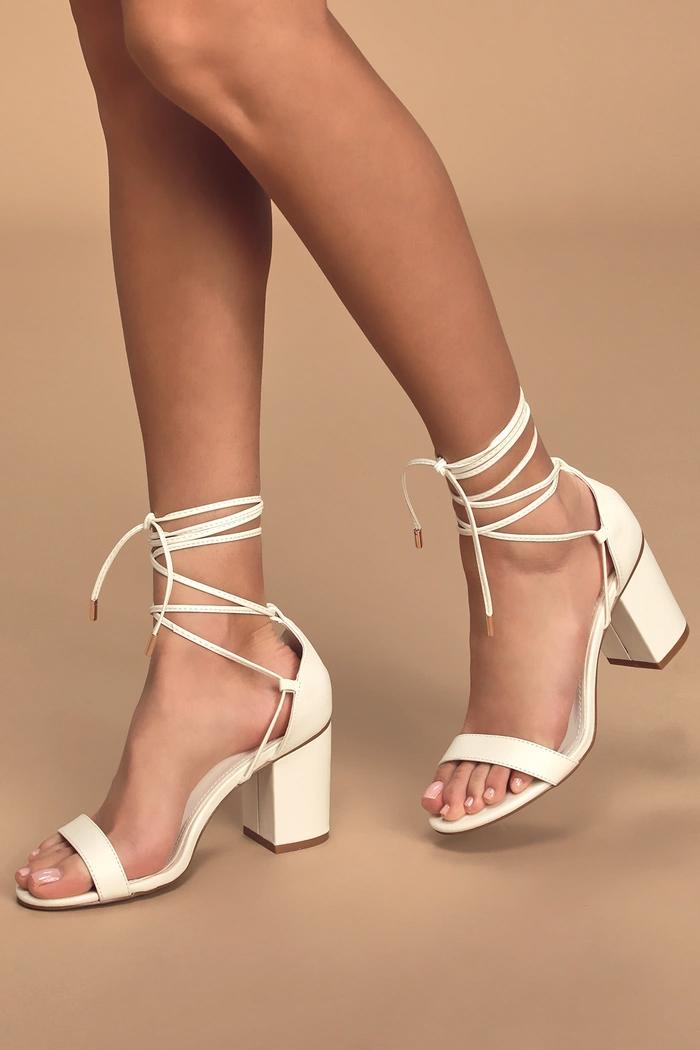 black heels with small platform