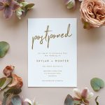 Change the Date Cards + Tips for Announcing Your Wedding Postponement