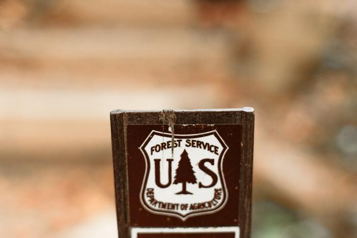 US forest service plaque