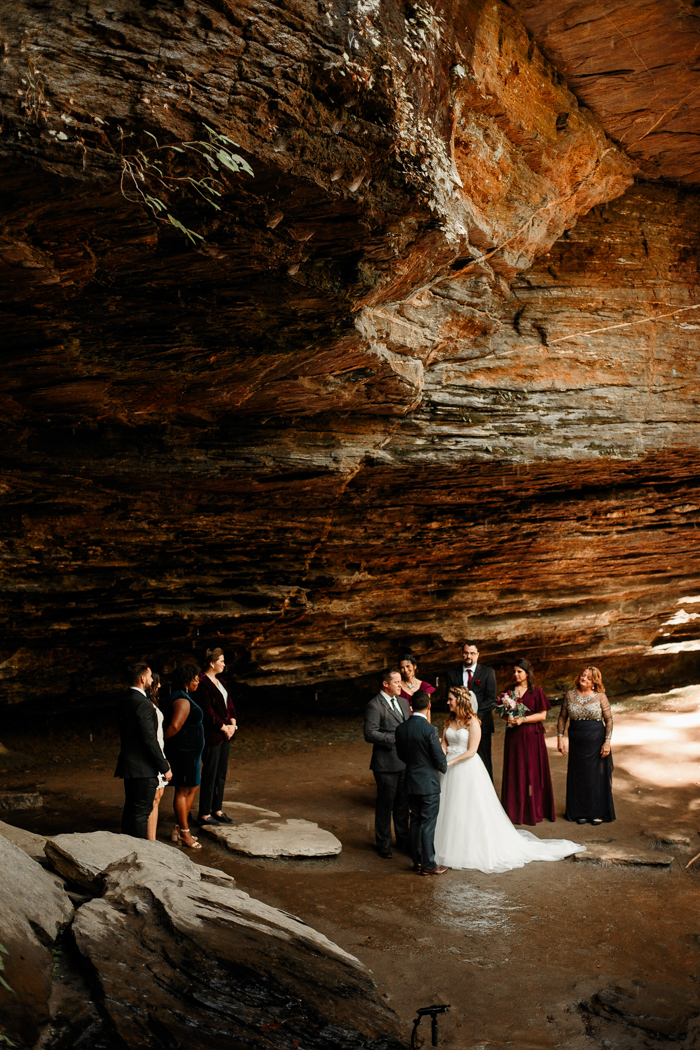 wedding ceremony in cavern