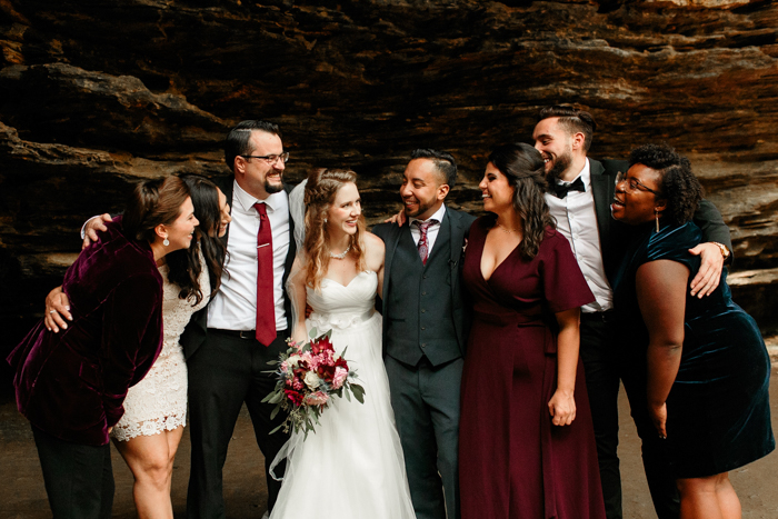 micro wedding party