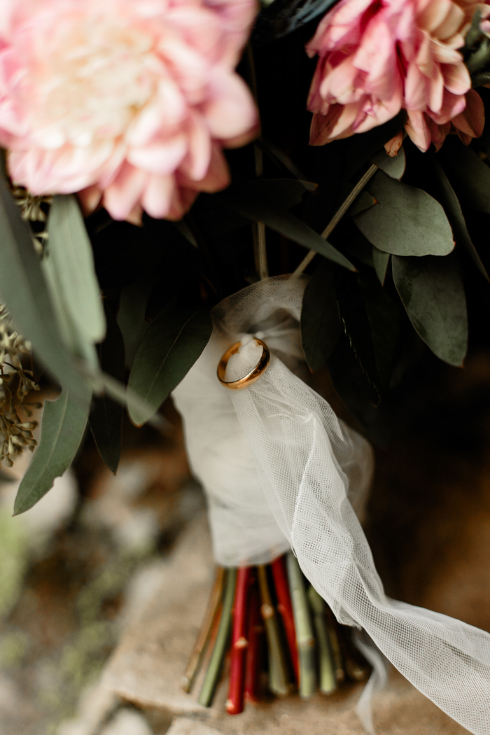 close up of bride's bouquet