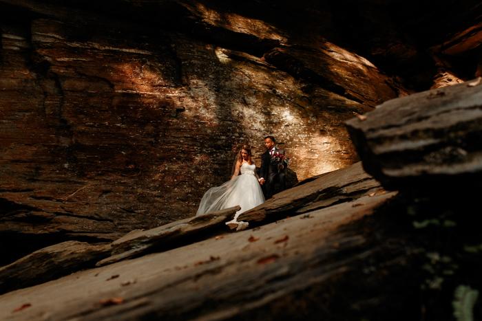 Moore's cove falls wedding portraits